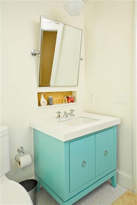 turquoise bathroom cabinet yellow and turquoise bathroom