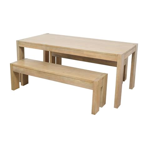 west elm bench table 34 off west elm west elm boerum dining table and