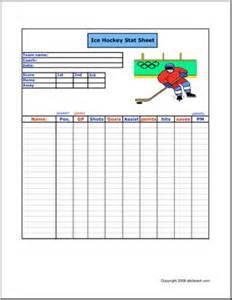 Basketball Sheet Template Stat Sheet Hockey Abcteach