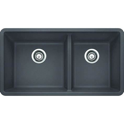 blanco kitchen sink blanco precis undermount granite composite 33 in 1 3 4 1711