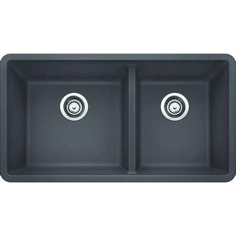 kitchen sinks undermount granite composite blanco precis undermount granite composite 33 in 1 3 4