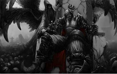 King Throne Skull Crown Lich Wallpapers Wings