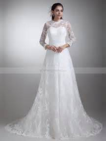 wedding dresses with sleeves and lace carolina sleeves allover lace a line wedding dress with court