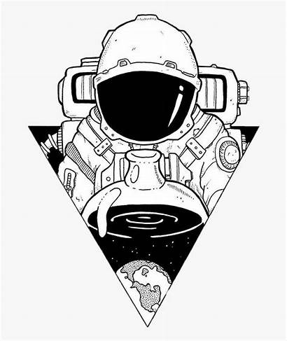 Astronaut Space Drawings Aesthetic Drawing Sticker Astronauts