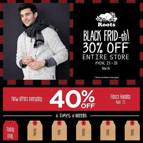 roots canada black friday  sale   save