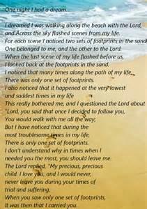 Original Poem Footprints Sand