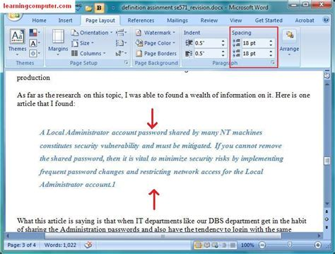 Microsoft Word 2007page Layout Tab