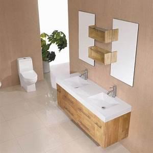 Meuble Salle De Bain Bois Naturel : id e d coration salle de bain sdg941bn meuble salle de bain bois naturel ~ Teatrodelosmanantiales.com Idées de Décoration
