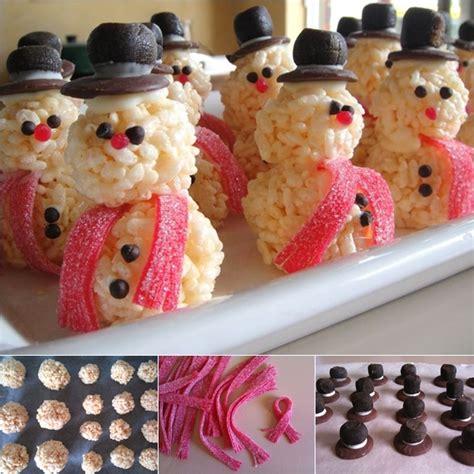 diy treat ideas diy rice krispie snowman christmas treat
