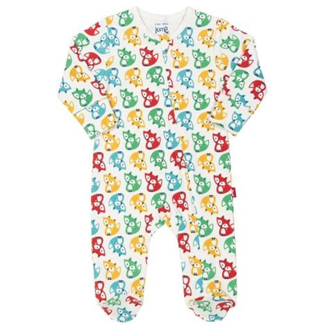 kite clothing baby sleepsuit rainbow fox baby clothes