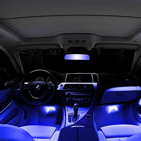 blue lights for cars thunder 174 12v 4 3 led car interior decorative atmosphere