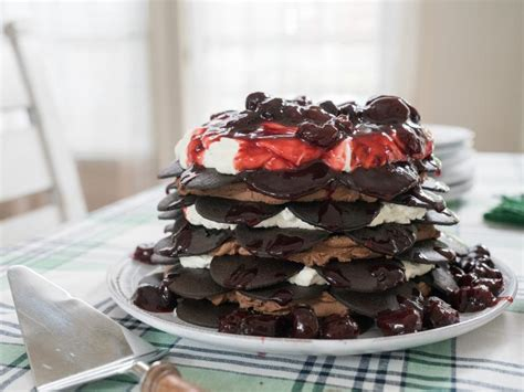 Toss the blueberries in 2 tablespoons of the flour in a medium bowl and set aside. Chocolate Cherry Icebox Cake Recipe | Trisha Yearwood ...