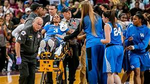 Janee Thompson of Kentucky Wildcats out with broken leg