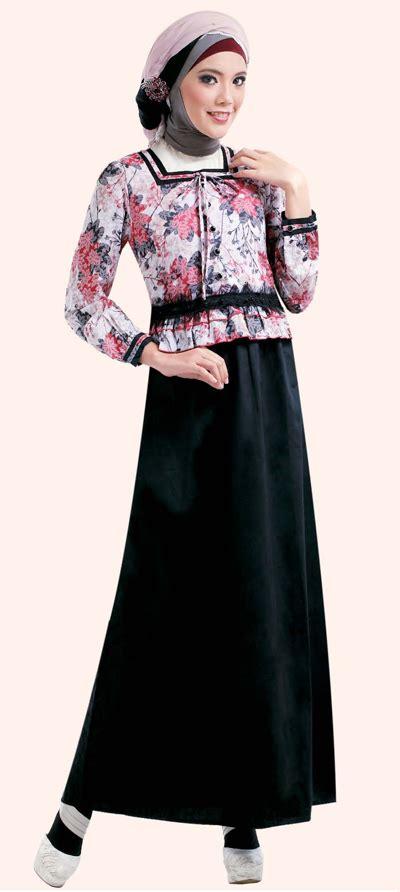 baju gamis muslimah  anggun tutorial hijab