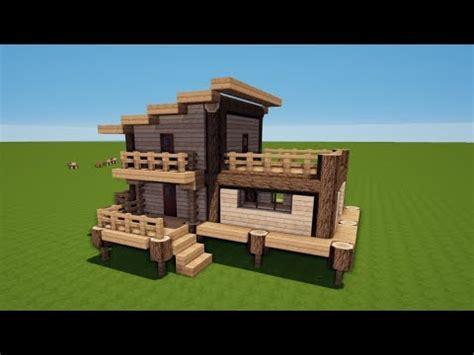 Minecraft Holzhaus  Starterhaus Bauen Tutorial [haus 76