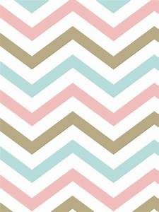 Pink And Blue Chevron Wallpaper