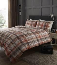 sherry checked stripe tartan fully reversible duvet cover quilt bedding set ebay