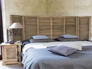 Idee Deco Tete De Lit : tete de lit originale en bois avec comment fabriquer une t te de lit marie claire idees et tete ~ Melissatoandfro.com Idées de Décoration