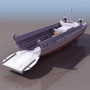 US Navy Landing Craft 3d Model 3DS Files Free Download