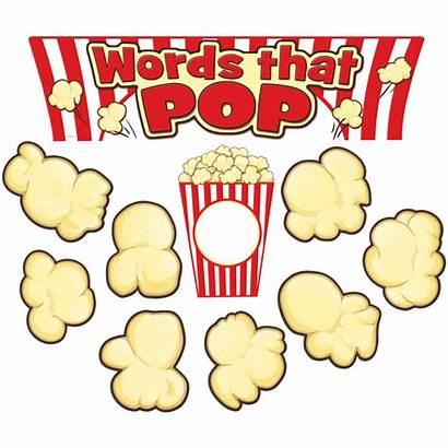 Words Pop Board Bulletin Display Popcorn Mini