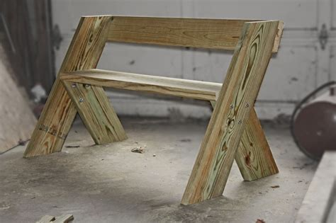 finished   aldo leopold bench today  legs