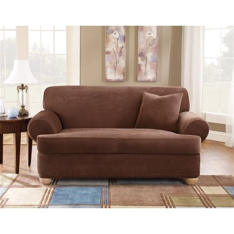Slipcovers For Couches With Cushions by Sure Fit T Cushion Sofa Slipcover Home Furniture Design