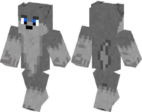wolf skin minecraft cute gray boy skins hub