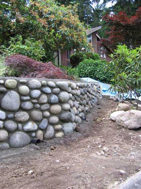 proper procedure  build  rock wall
