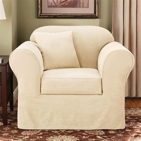 sure fit slipcovers suede supreme chair slipcover atg stores