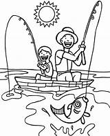 Coloring Boat Fishing Topcoloringpages Boys sketch template
