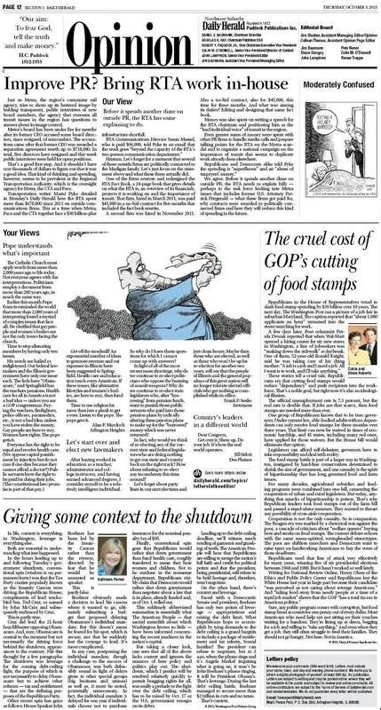 daily herald editorial page strives  foster debate