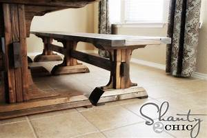 DIY Furniture ~ Triple Pedestal Bench - Shanty 2 Chic