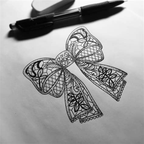 My Lace Bow Tattoo Design For A Tattoo Lace Bow