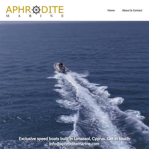 Boat Manufacturers Cyprus by Web Design For Exclusive Speed Boat Manufacturer