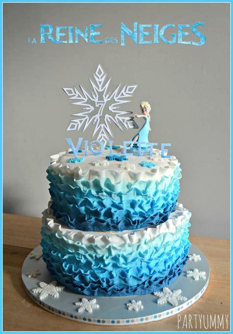 kit decoration gateau reine des neiges