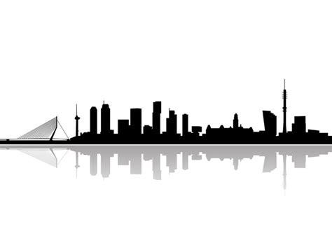 Fotobehang Rotterdam skyline vector • Pixers® - We leven