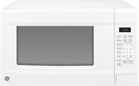 jesdsww ge  cu ft countertop microwave oven white