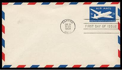 Mail Air Stamp Covers Issue Value Postcard