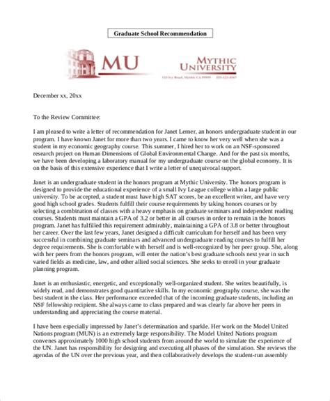 sample recommendation letters  students