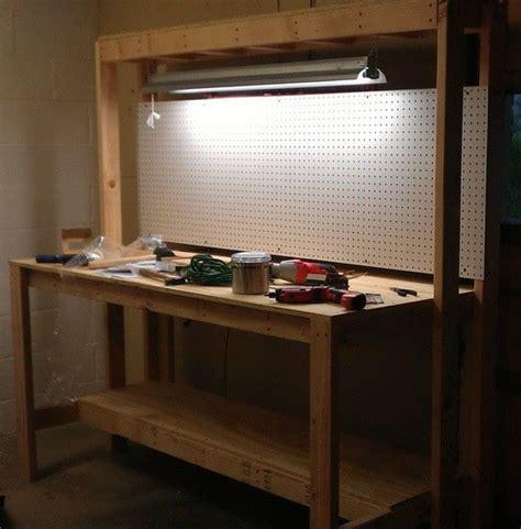 woodwork workbench plans pegboard  plans
