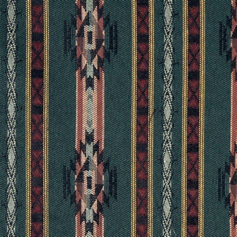 striped southwest navajo style upholstery fabric
