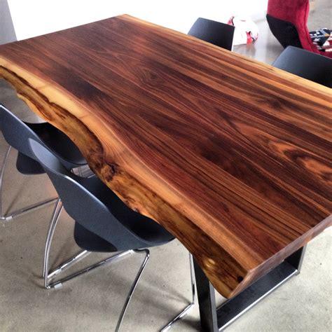 table cuisine en pin 2loons tables en noyer massif mikaza meubles modernes