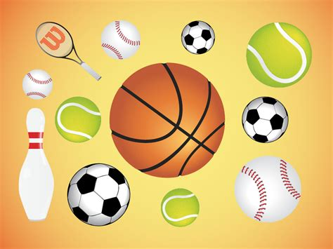 The Gallery For --> Sports Balls Vector
