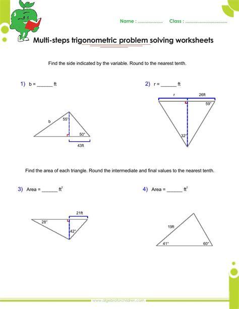 worksheet trigonometric ratios choice kidz