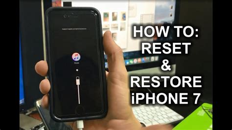 how to reset restore your apple iphone 7 factory reset