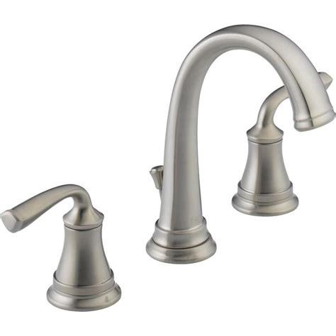delta kitchen sink faucets shop delta lorain stainless 2 handle widespread bathroom