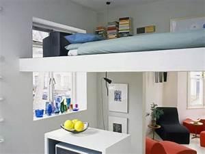 Wohn Schlafzimmer In Einem Raum : einrichtungsideen 1 zimmer wohnung ~ Markanthonyermac.com Haus und Dekorationen