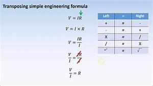 Transposing Of Formula