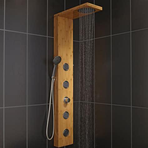 leroy merlin colonne de colonne de hydromassante avec robinetterie aspect bois holoma leroy merlin