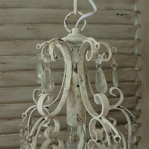 white shabby chic chandelier antique white chandelier droplets vintage light fitting distressed shabby chic